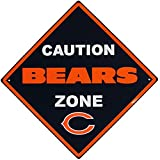 NFL Chicago Bears Caution Wall Sign Plaque, 14″