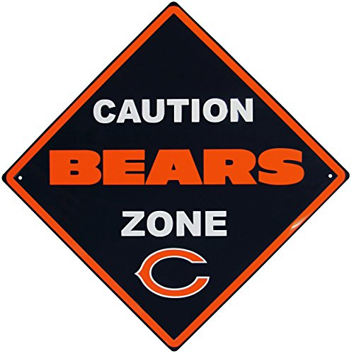 NFL Chicago Bears Caution Wall Sign Plaque, -