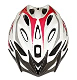 Moon Road and Mountain Bike MTB Helmet, Light Weight with High Grade EPS and PC (Red & White)