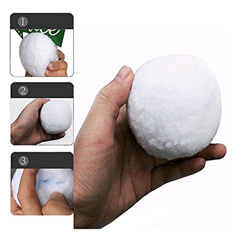 C&G Typhoon 100 Pack Fake Snowball - Indoor Snowball Fight Anytime - Family Snowtime - Party Snow Fight Games Any Season - Safe, No Mess, No Slush, No Fur Loss]()