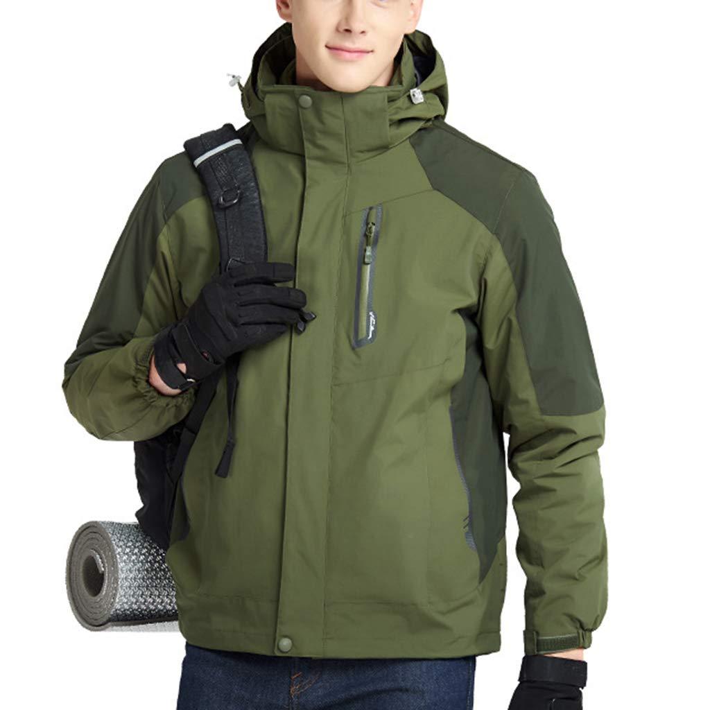 Liabb Herren Ski Climbing Jacke wasserdichte Jacken-Winter-Warmer Ski Bergwindjacke Fleece Mäntel mit Kapuze Lässige Kleidung Regenmantel