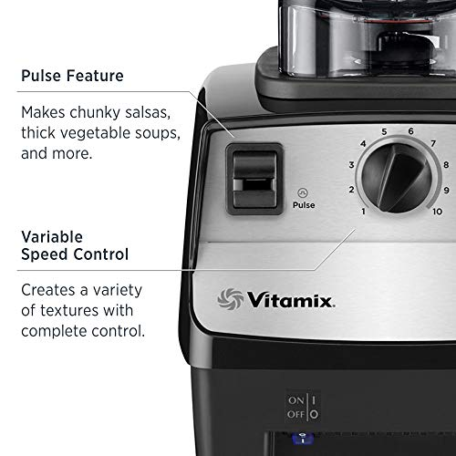 Vitamix 5300 Blender, Professional-Grade, 64 oz. Low-Profile Container, Black (Renewed)