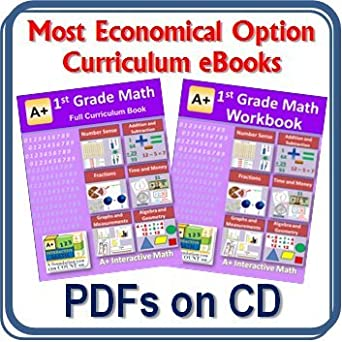 Amazon.com: 1st, First Grade Math Curriculum Bundle - Lessons ...