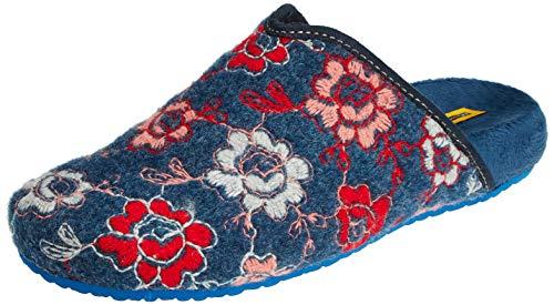 Free con Abierto Mujer de Zapatillas talón por Marino para casa 002 Estar Multicolor NORDIKAS RcaYydqwY