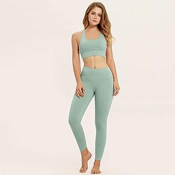 YANGCONG Ropa de Fitness de Yoga Ropa Deportiva de Mujer ...