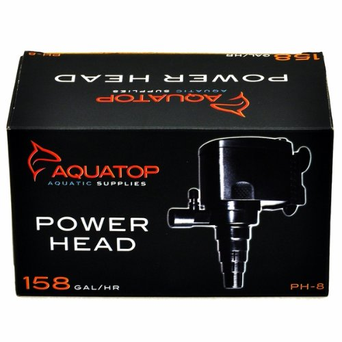 AquaTop PH-8 Power Head for Aquarium, 158-Gallons Per Hour, 8-Watts by AquaTop