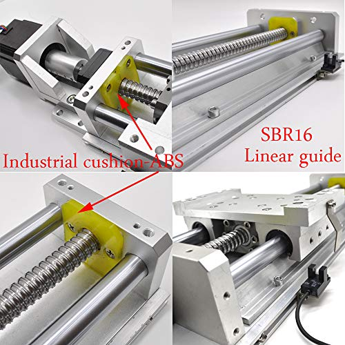 Heavy Load Linear Stage Actuator 20Inch CNC Slide Table SFU1605 Ball Screw+16MM-SBR Guide with Hand-Wheel