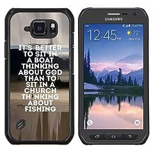 Caucho caso de Shell duro de la cubierta de accesorios de protección BY RAYDREAMMM - Samsung Galaxy S6Active Active G890A - pesca marinero dios cristiano divertido pasatiempo