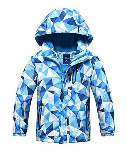 ded Fleece Lined Waterproof Jacket Windproof Outerwear 7/8 Blue ()