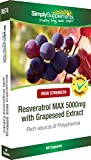 Resveratrol Capsules 5000mg | Maximum Strength Grapeseed Extract Supplement | 60 Capsules | Manufactured in the UK
