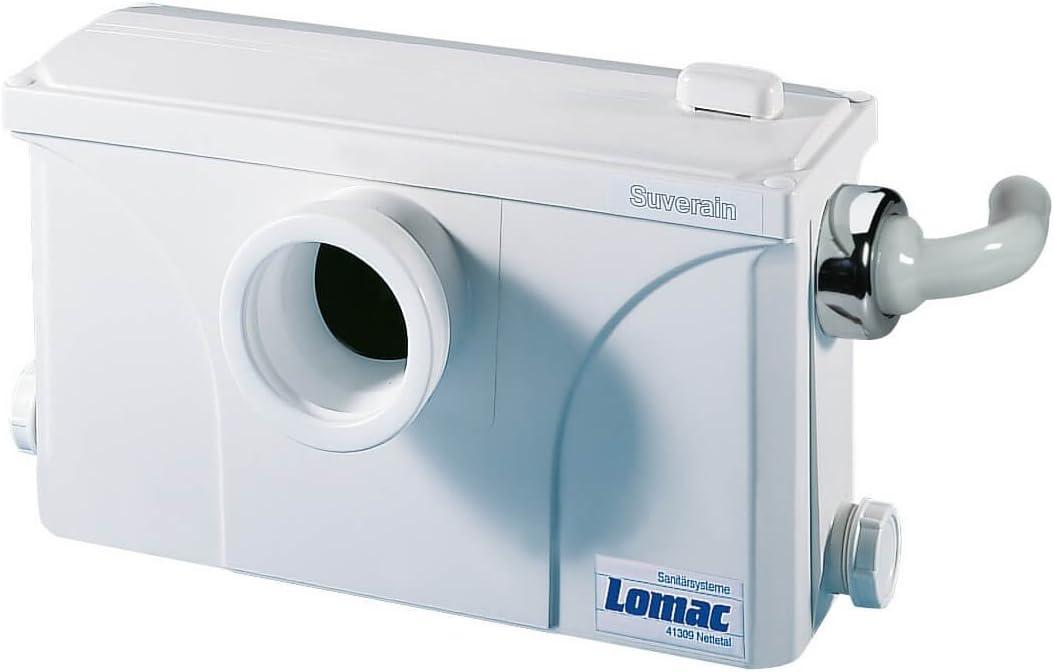 Lomac 3000-A WC Hebeanlage Schmutzwasserhebeanlage Fäkalienhebeanlage - Kleinhebeanlage Test