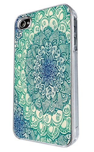 iphone 4 4S Vintage Aztec Eastern Love and peace Geometric middle east Art 90 Design Fashion Trend Hülle Case Back Cover Metall und Kunststoff