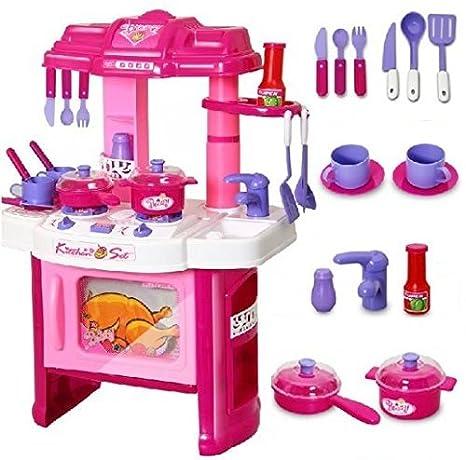 Buy Temson Kids Kitchen Playset Toddler Pretend Play Kitchen Kit