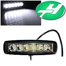 """YINTATECH 1X 18W 6"""" inch Spot Led Work Light Bar Drving Light Fog Lamp For 4x4 Off-road Led Lights SUV Car Truck Boat (1 Pack Spot Beam)"""