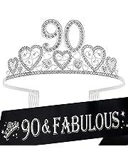 90th Birthday Sash, 90th Birthday Tiara, 90th Birthday Decorations for Her, 90th Birthday, 90th Birthday Tiara for women, 90th Birthday Sash and Crown, 90th Sash Birthday Women, Birthday Gifts for 90