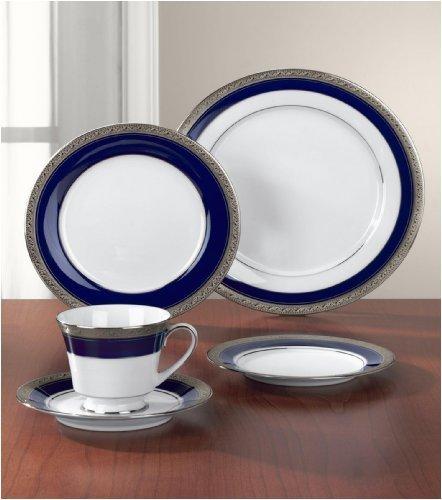 Noritake Crestwood Cobalt Platinum Salad Plate (Crestwood Plate Salad Noritake Platinum)