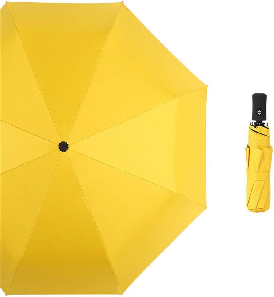 JUNDY Paraguas portátil Mini Plegable Resistente al Viento – Duradero Paraguas de Viaje Paraguas Color sólido tríptico automático Paraguas colour5 97cm: Amazon.es: Hogar