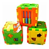 MAZIMARK--kid Intelligence Moveable Cognitive Box Building Blocks 2-4years Educational Toy