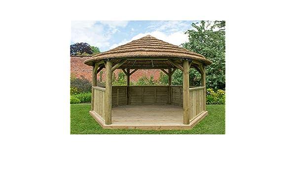 Forest - Carpa hexagonal de 4, 7 m con techo de campo (incluido ...