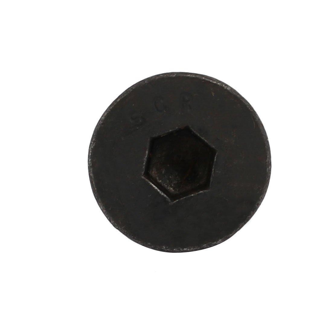 sourcingmap/® 8pcs M5x20mm Flat Countersunk Head Hex Socket Left Hand Thread Bolt DIN7991