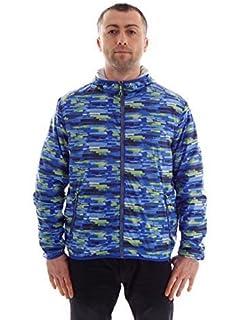 1139c564afaa CMP Jacke Sommerjacke Kapuzenjacke Windjacke blau-Gemustert Tasche Zip Gr.  50 3D89267P