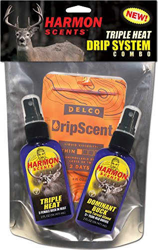 HARMON SCENTS Triple Heat Drip System - Combo Pack - CCHTHDBK - Deer Hunting Scents - Whitetail Scents - Trophy (Trophy Whitetail Deer)