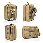 Yuan Ou Trousse de Secours Pouch Travel Green First Aid Kit Military Kit Medical Quick Pack 8