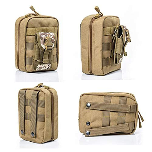 Yuan Ou Trousse de Secours Pouch Travel Green First Aid Kit Military Kit Medical Quick Pack 3