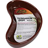 Zilla 10968 Terrarium Dish, Medium, Colors Vary