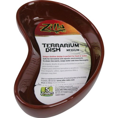 Zilla 10968 Terrarium Dish, Medium, Colors Vary for sale  Delivered anywhere in Canada