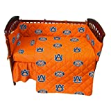 Auburn Tigers 5 Piece Crib Set - Entire Set includes: (1) Reversible Comforter, (1) Bed Skirt , (2) Fitted Sheets and (1) Bumper Pad - Decorate Your Nursery and Save Big By Bundling!