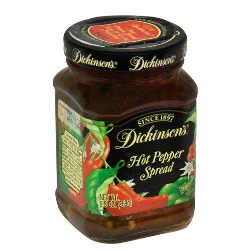 Dickinson's Spread, Hot Pepper, 9-Ounce (Pack of 6) - Hot Pepper Butter