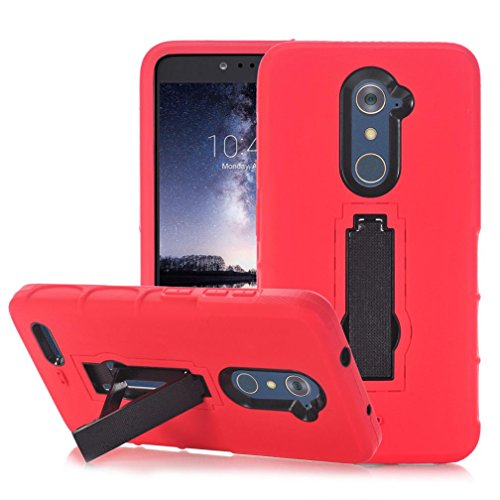 - Coohole Fashion Hard Soft Rubber Impact Armor Cover Case Back Hybrid For ZTE Zmax Pro Z981 (Red)