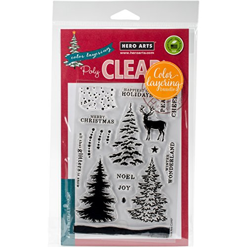 Hero Arts Snowy Tree Clear Stamp and Die Combo by Hero Arts