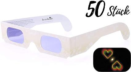 Occhiali da diffrazione effetto cuore occhiali rave moda per uomini e donne blu occhiali a forma di cuore 3D cuori fuochi dartificio occhiali