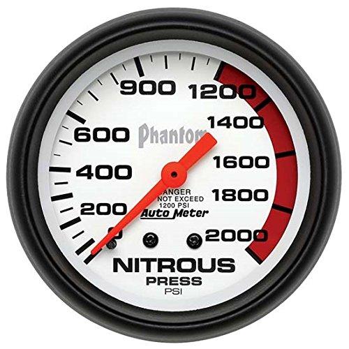 Auto Meter 5828 Phantom Mechanical Nitrous Pressure Gauge