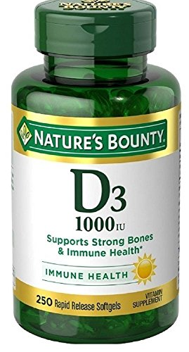 Natures Bounty Vitamin D3 1000 Softgels