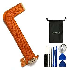 Reemplazo de carga USB puerto Flex Cable para Samsung Galaxy Note 12.2 Pro P900 P901 P905 Con herramientas de la abertura