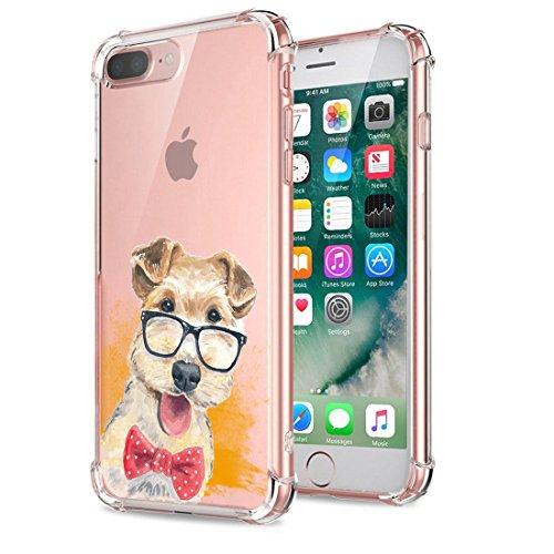 Price comparison product image Beryerbi iPhone 7 Plus Case Clear Soft TPU Anti-Drop Protective Cover (iPhone 7 Plus, 8)