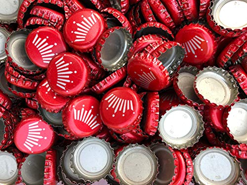 200 ((Red Budweiser Crown)) Bottle Caps for Crafts, Tables, Jewelry ()