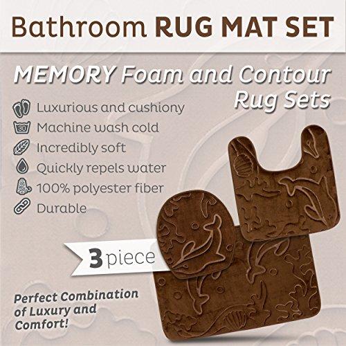 bathroom rug sets. Amazon com  Bathroom Rug Mats Set 3 Piece Memory Foam Extra Soft Shower Bath Rugs Contour Mat and Lid Cover Perfect Combination of Luxury Comfort