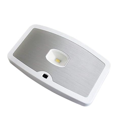 Funnyrunstore Sensor de movimiento activado con control óptico Ahorro de energía Lámpara de inducción Batería LED
