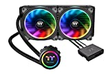 Thermaltake CL-W167-PL14SW-A Floe Dual Ring RGB 280mm Ready AIO Liquid Cooling System CPU Cooler
