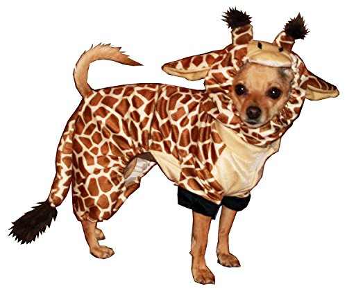 Hip Doggie Giraffe Costume (Hip Doggie Giraffe Dog Costume, Onesy Jumper, M)