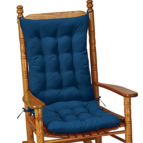 Cushions Glider Chairs (Collections Etc Quilted Rocking Chair Cushion Set, Blue)
