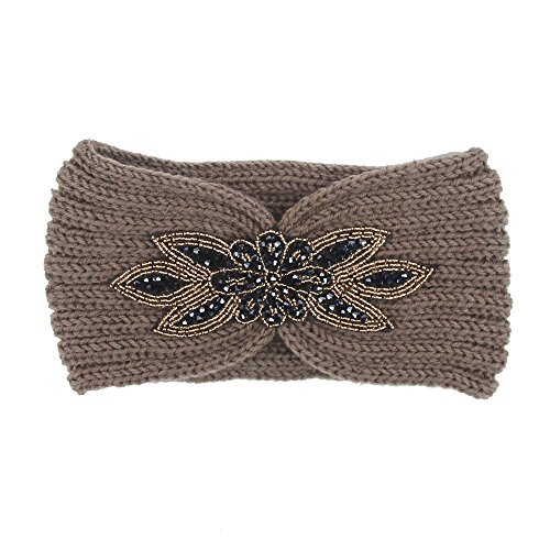 ds for Women Harley Hair Ladies Letter Sports Sweatband Gym Stretch Hair Band(3-Khaki,Freesize) ()