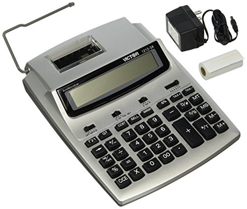 Victor 1212-3A 12 Digit Commercial Printing Calculator with Built-In AntiMicrobial - Luigi Anti