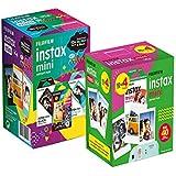 Kit Fujifilm Instax: Filme Color 3 Packs c/ 10 Poses cada + Filme Borda Branca c/ 40 poses