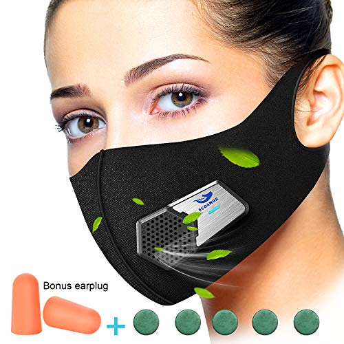 Anti Dust Electric Mask Reusable n95 Respirator for Face Air Purifying, ECOAMOR Washable Safety Masks for Outdoor Sports,Sanding,Gardening,TravelResist Dust,Germs,Allergies,PM2.5,Best Respirator Mask by ECOAMOR (Image #9)