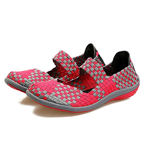 para AIRAVATA Mujer Zapatillas SH075 Rose1 UqqEAT